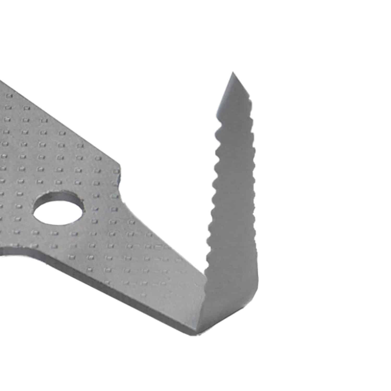 25 mm Scheibenaustrenn Klingen 90° Winkel mit Sägeschliff, Ziehklinge