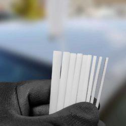 Fühlerlehre zum einfachen und schnellen Vermessen der Spaltmaße bei Frontscheiben 1-12 mm
