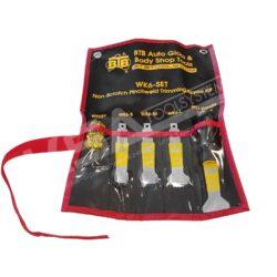 BTB WK6 SET Falzschaberset mit 4 Schabern, 1 Griff und Schraubendreher, in Tasche