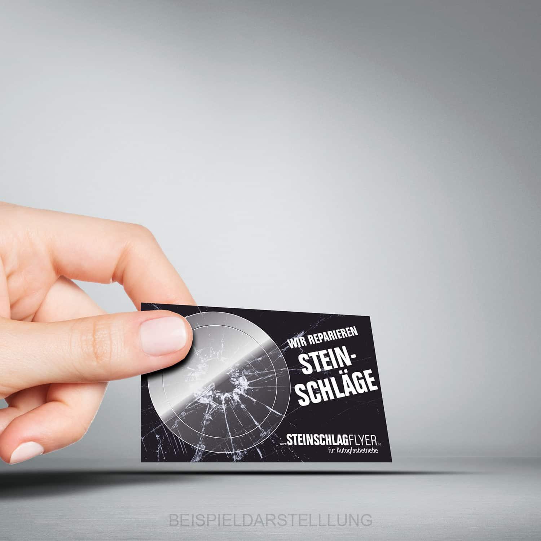 Steinschlag Pflaster als Visitenkarte