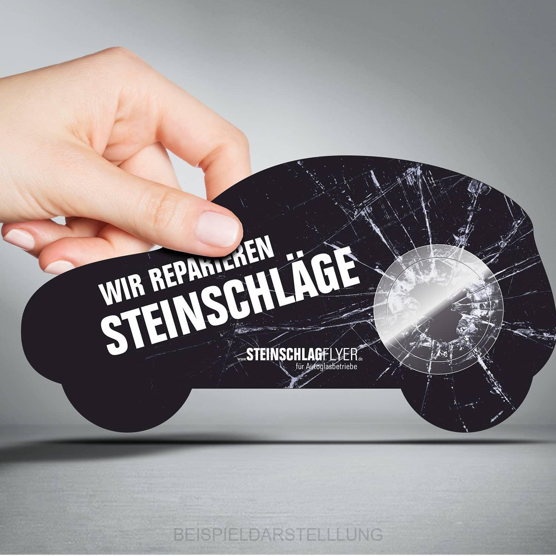 Steinschlagpflaster - Werbemittel für Autoglaser