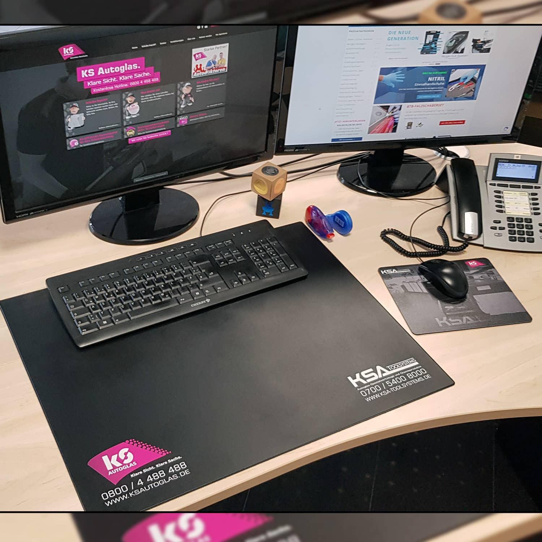 Schreibtischunterlage Anwendung