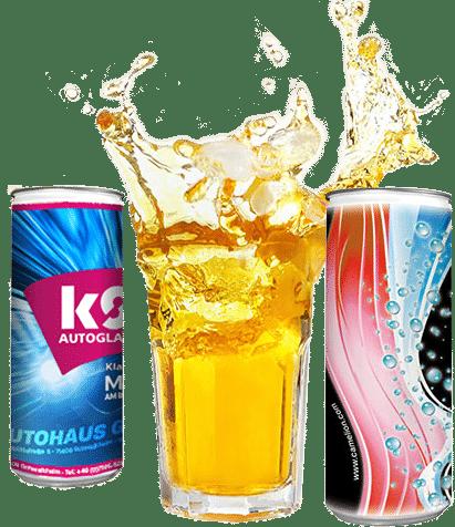 Energy Getränke Dosen mit eigenem Layout