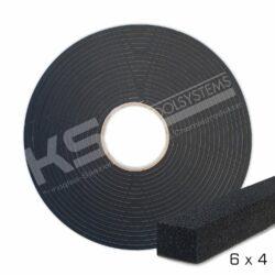 Zellkautschuk Profil 6 breit x 4 hoch mm