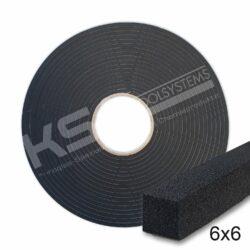Zellkautschuk Profil 6 x 6 mm